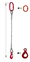 DOSTAWA GRATIS! 33948350 Zawiesie linowe jednocięgnowe miproSling LE 17,00 (długość liny: 1m, udźwig: 17 T, średnica liny: 40 mm, wymiary ogniwa: 275x150 mm)
