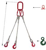 DOSTAWA GRATIS! 33948416 Zawiesie linowe trzycięgnowe miproSling C-WLL 13,5/9,4 (długość liny: 1m, udźwig: 9,5-13,5 T, średnica liny: 24 mm, wymiary ogniwa: 230x130 mm)