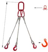 DOSTAWA GRATIS! 33948422 Zawiesie linowe trzycięgnowe miproSling FW 15,0/11,0 (długość liny: 1m, udźwig: 11-15 T, średnica liny: 26 mm, wymiary ogniwa: 230x130 mm)