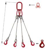 DOSTAWA GRATIS! 33948492 Zawiesie linowe czterocięgnowe miproSling LE 36,0/26,0 (długość liny: 1m, udźwig: 26-36 T, średnica liny: 40 mm, wymiary ogniwa: 350x190 mm)