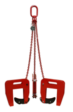 DOSTAWA GRATIS! 33954997 Zawiesie łańcuchowe 3-cięgnowe zakończone uchwytami do podnoszenia kręgów betonowych GDA 1,6 (udźwig: 1,6 T, zakres chwytania: 40-140 mm)