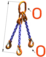 DOSTAWA GRATIS! 33971867 Zawiesie łańcuchowe trzycięgnowe klasy 10 miproSling A8W 3,0/2,12 (długość łańcucha: 1m, udźwig: 2,12-3 T, średnica łańcucha: 6 mm, wymiary ogniwa: 135x75 mm)