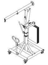 DOSTAWA GRATIS! 61773972 Żuraw hydrauliczny obrotowy ręczny (udźwig: od 300 do 520 kg)