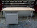 DOSTAWA GRATIS! 77156838 Stół warsztatowy jednostanowiskowy, drzwi, szuflada (wymiary: 1500x750x900 mm)