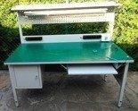 DOSTAWA GRATIS! 77156978 Stół montażowy z nadstawką, 1 szuflada (wymiary: 1200x600x750 mm)