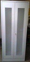 DOSTAWA GRATIS! 77157032 Szafa odzieżowa, 2 drzwi perforowane (wymiary: 2000x800x500 mm)