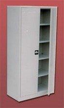 DOSTAWA GRATIS! 77157076 Szafa biurowa ekonomiczna, 2 drzwi, 4 półki regulowane (wymiary: 2000x970x440 mm)