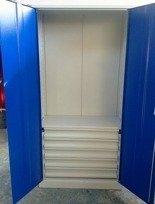 DOSTAWA GRATIS! 77157226 Szafa narzędziowa, 5 szuflad, 3 półki regulowane (wymiary: 2000x970x500 mm)