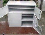 DOSTAWA GRATIS! 77157258 Szafa narzędziowa 3-poziomowa, 6 drzwi (wymiary: 1000x1000x460 mm)