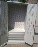 DOSTAWA GRATIS! 77157260 Szafa narzędziowa z ściankami perforowanymi, 4 szuflady (wymiary: 2000x970x600 mm)