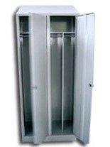 DOSTAWA GRATIS! 77170688 Szafa odzieżowa BHP z przegrodami, 2 drzwi (wymiary: 2000x800x480 mm)