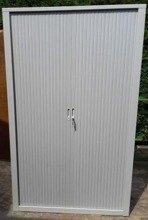 DOSTAWA GRATIS! 77170730 Szafa biurowa, drzwi żaluzjowe (wymiary: 2000x1000x450 mm)