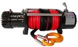 DOSTAWA GRATIS! 81874372 Wyciągarka Escape 12000 lbs 12,0 X [5443kg] z liną syntetyczną w oplocie z dużym hakiem 24V (średnica liny: 10mm, długość liny: 25m)