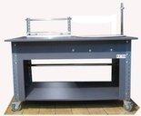 DOSTAWA GRATIS! 91073679 Stół do pakowania z kołem obrotowym na kółkach (blat: 150x78 cm, wys: 78 cm)