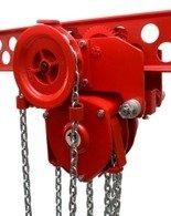 DOSTAWA GRATIS! 9569006 Wciągnik łańcuchowy przejezdny (udźwig: 0,5 T, wysokość podnoszenia: 4m, zakres toru jeznego: 50-90 mm)