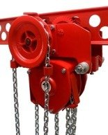 DOSTAWA GRATIS! 9588158 Wciągnik łańcuchowy przejezdny (udźwig: 2,5 T, wysokość podnoszenia: 3m, zakres toru jeznego: 98-143 mm)