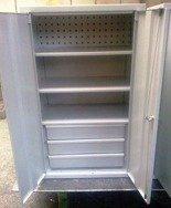 Szafa narzędziowa, 2 szuflady, 3 półki (wymiary: 1250x600x400 mm) 77157238