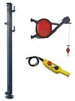 Wciągarka elektryczna linowa budowlana + Wysoki maszt + lina 30m + sterowanie ręczne 15m (udźwig: 325 kg) 08172268
