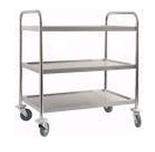 Wózek kelnerski nierdzewny, 3 półki (wymiary: 900x600x850 mm) 77157538