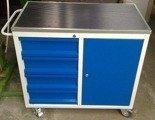 Wózek narzędziowy, 4 szuflady, 1 szafka (wymiary: 1200x600x900 mm) 77157359