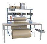 Zestaw do pakowania + Solidny stół warsztatowy GermanTech z regulacją wysokości 720-970mm (maks. obciążenie: 150 kg, wymiary: 1600x800mm) 99767959