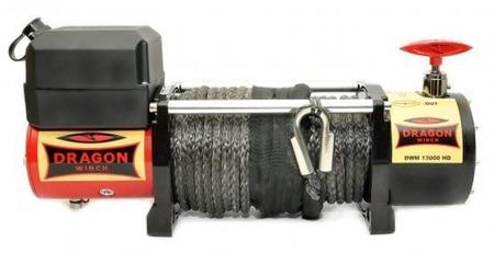 55972504 Wyciągarka samochodowa Dragon Winch Maverick DWM 13000 HD S 12V, z liną syntetyczną 30m, hamulec dynamiczny (udźwig: 13000 lb/ 5897 kg, silnik: 6,8KM)