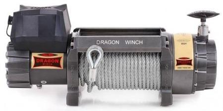 55972508 Wyciągarka samochodowa Dragon Winch Highlander DWH 15000 HD 12V hamulec dynamiczny, z liną syntetyczną w oplocie 30m (udźwig: 15000 lb/ 6803 kg, silnik: 9KM)