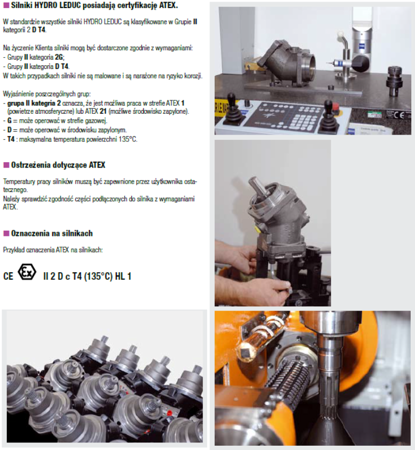 DOSTAWA GRATIS! 01538902 Silnik hydrauliczny tłoczkowy Hydro Leduc (objętość robocza: 80,4 cm³, maksymalna prędkość ciągła: 4500 min-1 /obr/min)