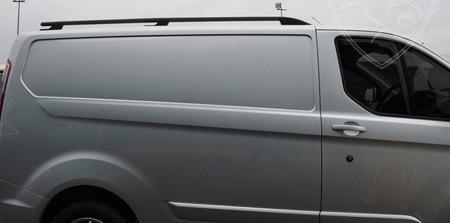 DOSTAWA GRATIS! 01672110 Relingi dachowe do Ford Transit Custom 2012- short SPORT BLACK