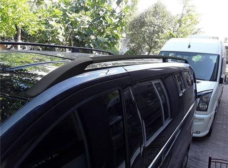 DOSTAWA GRATIS! 01672121 Relingi dachowe do Mercedes Vito W639 W447 SOLID czarne extra-long