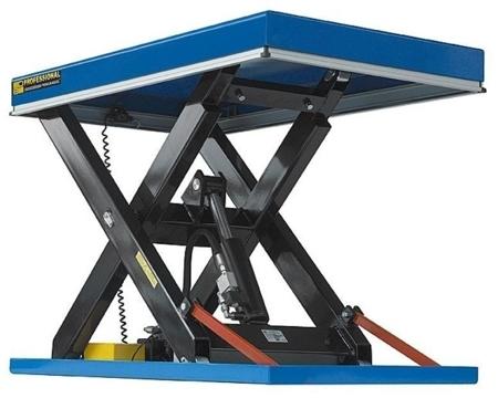 DOSTAWA GRATIS! 01870602 Podnośnik, podest nożycowy (udźwig: 4000 kg, wymiary platformy: 2000x1200mm, wysokość podnoszenia min/max: 300-1600 mm, moc: 2,3kW)