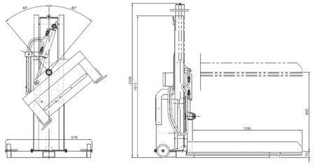 DOSTAWA GRATIS! 03073964 Podnośnik hydrauliczny do palet (udźwig: 750 kg, długość załadunkowa: 850mm, szerokość załadunkowa: 850mm, wysokość podnoszenia: 970mm)