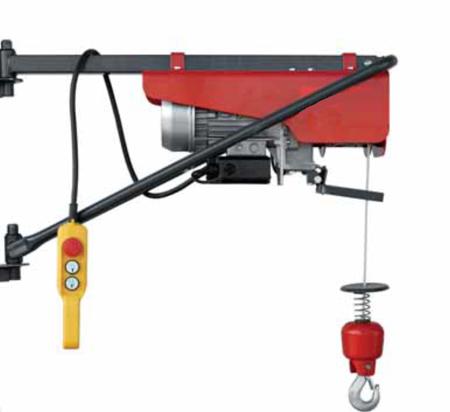 DOSTAWA GRATIS! 08172265 Wciągarka elektryczna linowa budowlana + Uchwyty + Ramie robocze (udźwig: 200 kg)