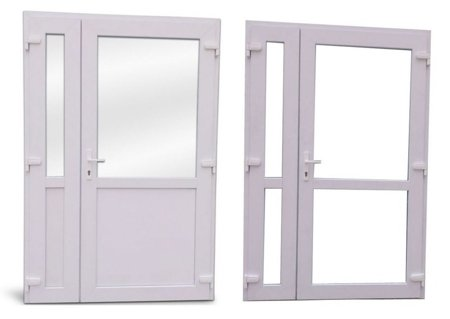 DOSTAWA GRATIS! 26269152 Drzwi zewnętrzne sklepowe (kolor: biały, strona: lewa, szerokość: 140 cm)