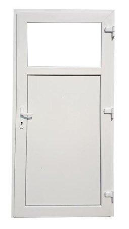 DOSTAWA GRATIS! 26269182 Drzwi zewnętrzne sklepowe (kolor: biały, strona: lewa, szerokość: 90 cm)