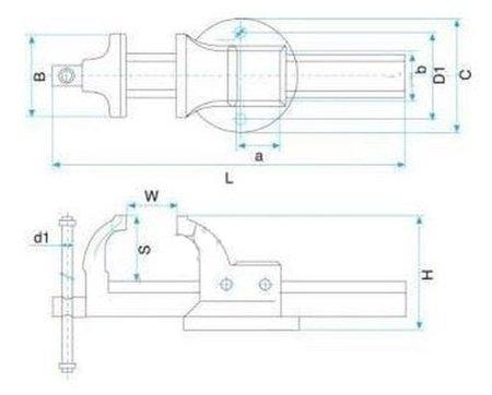 DOSTAWA GRATIS! 27072721 Imadło ślusarskie (szerokość szczęk: 100 mm)