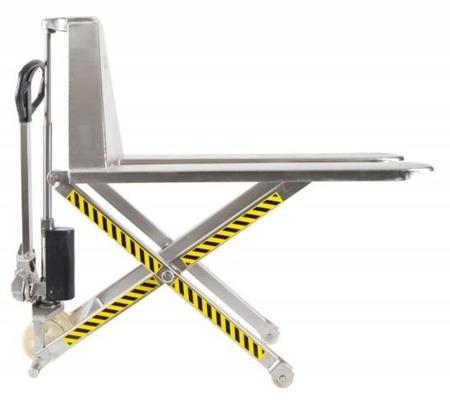 DOSTAWA GRATIS! 31072165 Wózek paletowy podnośnikowy Inox (udźwig: 1000 kg, długość wideł: 1190mm, wysokość podnoszenia: 85-800mm)