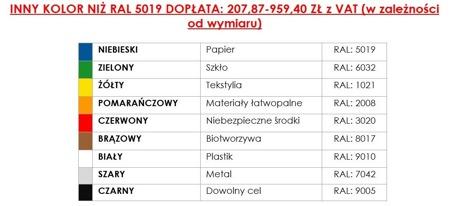 DOSTAWA GRATIS! 35960457 Kontener samowyładowczy do wózka widłowego (pojemność: 3000 L)