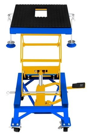 DOSTAWA GRATIS! 45674755 Podnośnik motocyklowy na kołach (udźwig: 135 kg, wymiary platformy: 410-350 mm, wysokość podnoszenia: 350-870 mm)