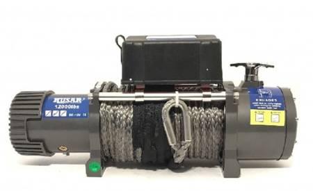 DOSTAWA GRATIS! 51971661 Wyciągarka Husar z liną syntetyczną 12V (uźwig: 12000lbs / 5443 kg, długość liny: 28m)