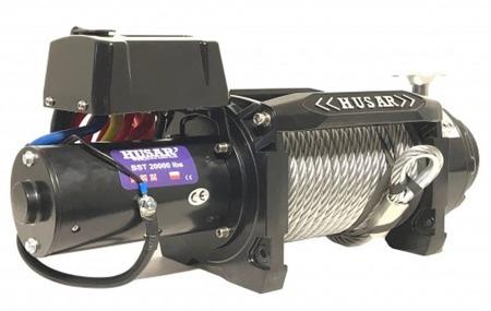 DOSTAWA GRATIS! 51971674 Wyciągarka Husar z liną stalową 24V (uźwig: 20000 lbs / 9072 kgs, długość liny: 26,5m)