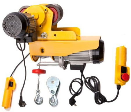DOSTAWA GRATIS! 55928504 Wyciągarka linowa elektryczna Industrial 300/600 230V, hamulec automatyczny (udźwig: 300/600 kg)