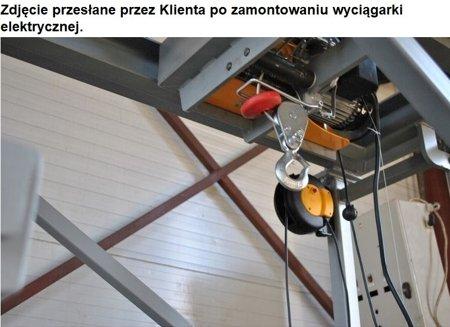 DOSTAWA GRATIS! 55928532 Wyciągarka linowa elektryczna Industrial 500/990 230V, hamulec automatyczny (udźwig: 500/990 kg)  stare 1200 kg Bez UDT!!!