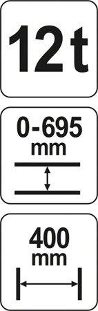 DOSTAWA GRATIS! 65669898 Prasa hydrauliczna (nacisk: 12 T)
