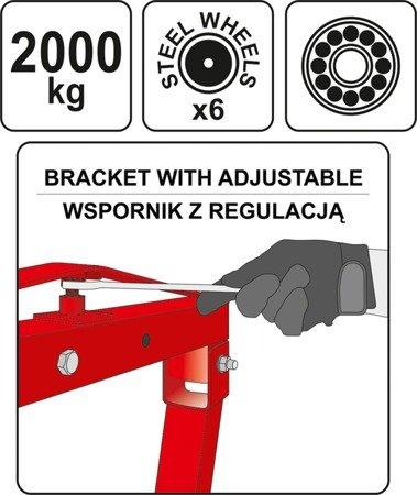 DOSTAWA GRATIS! 65669905 Żuraw warsztatowy (udźwig: 2000 kg)