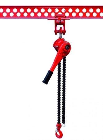 DOSTAWA GRATIS! 9588180 Wciągnik łańcuchowy dźwigniowy, rukcug, łańcuch Galla (udźwig: 1,5 T, wysokość podnoszenia: 1,5m)