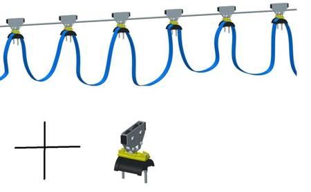 Firanka kablowa z wózkami na przewód zasilajacy - długość 5m 28876828