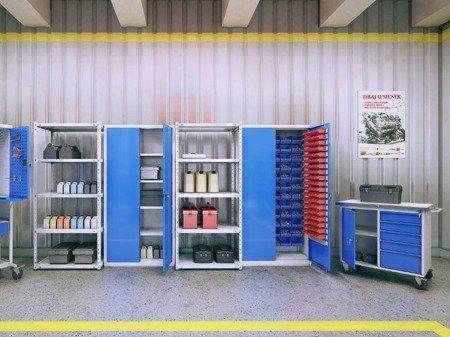 Gorek Szafa szafka warsztatowa z pojemnikami 72+80 sztuk (wymiary: 1990x1000x435 mm) 09276036