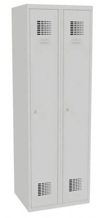 Metalowa szafa ubraniowa (wymiary: 1800x600x500 mm, kolor: popielaty) 09276669