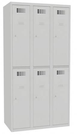 Metalowa szafa ubraniowa (wymiary: 1800x900x500 mm, kolor: popielaty) 09276673